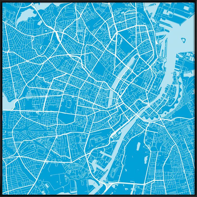Copenhagen Blue -Bild mit Kunststoffrahmen
