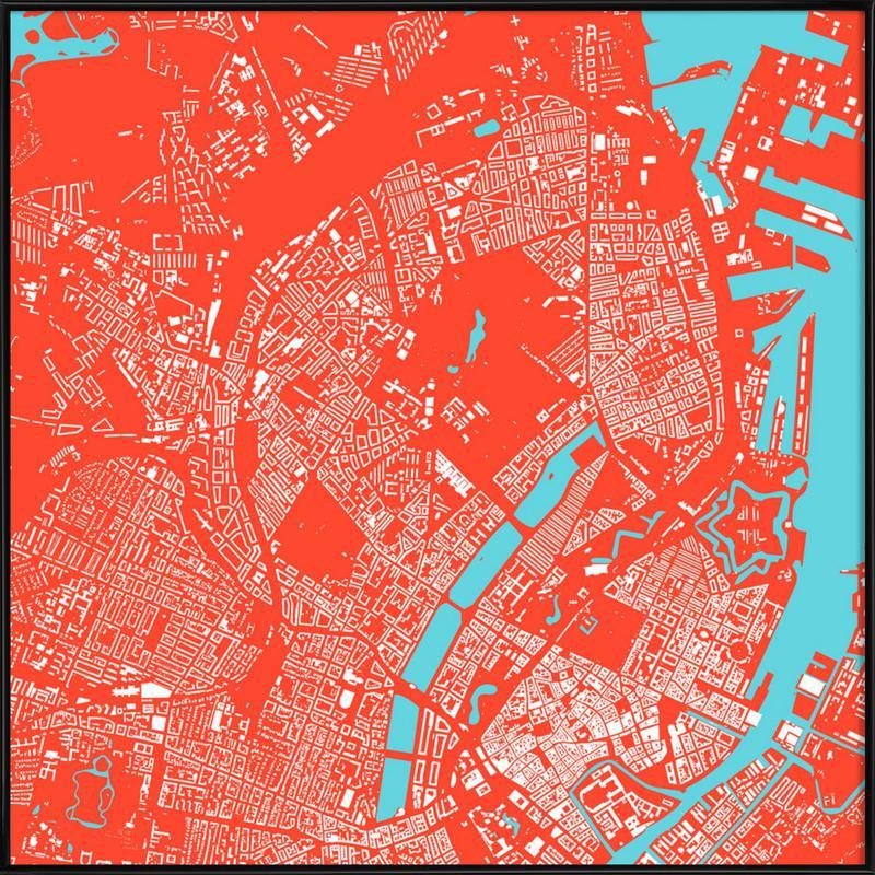 Copenhagen Red Framed Poster