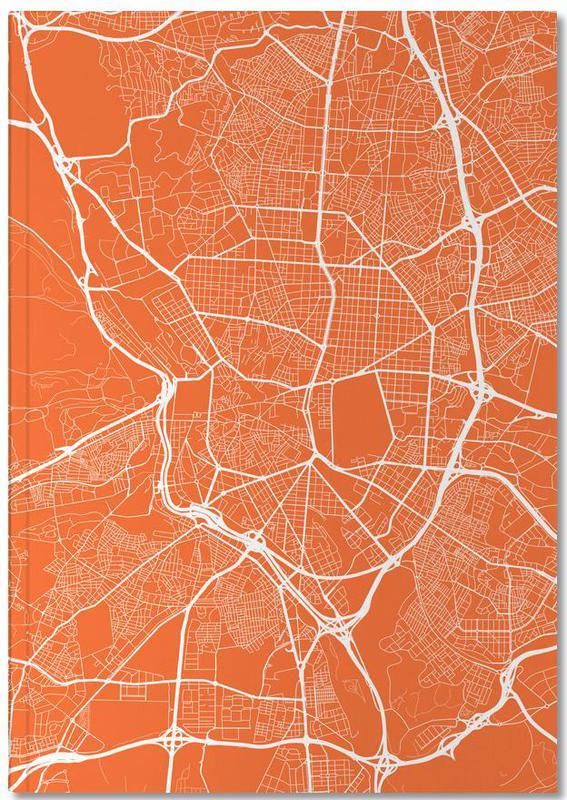 Cartes de villes, Madrid, Madrid Red Notebook