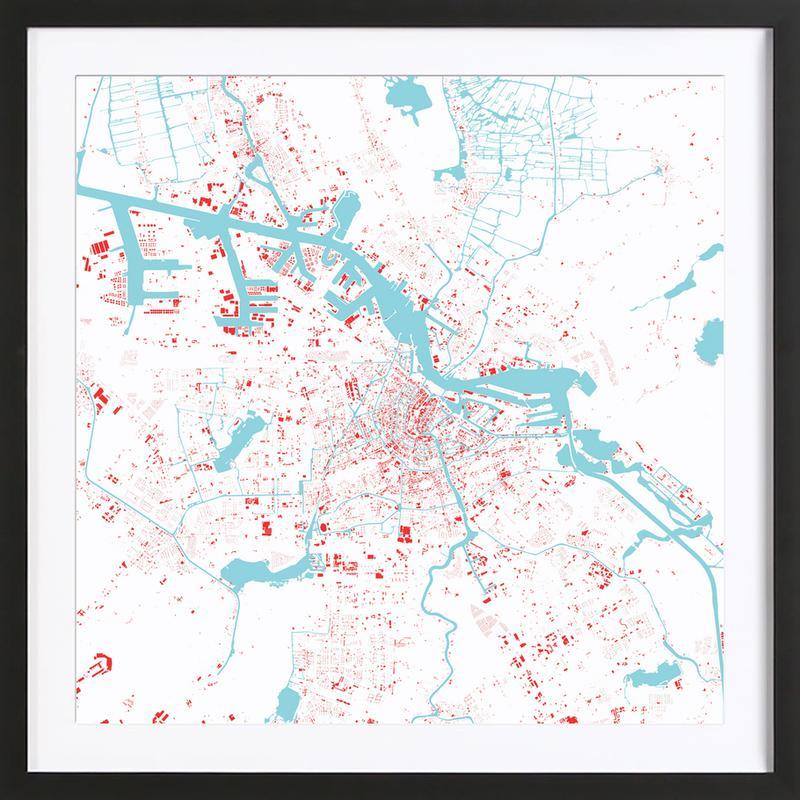 Amsterdam Red Framed Print