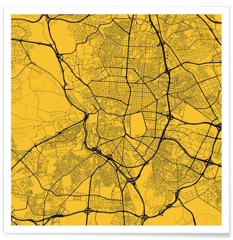 Bykort, Madrid, Madrid Yellow Plakat