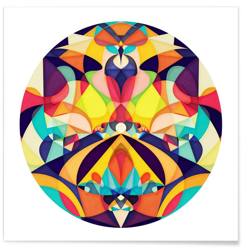 , Poetry Geometry -Poster
