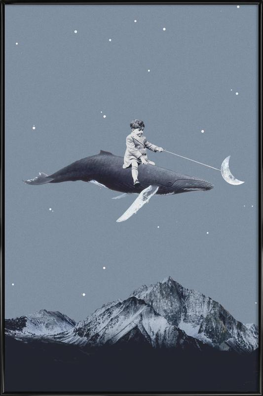 Aim For the Moon -Bild mit Kunststoffrahmen