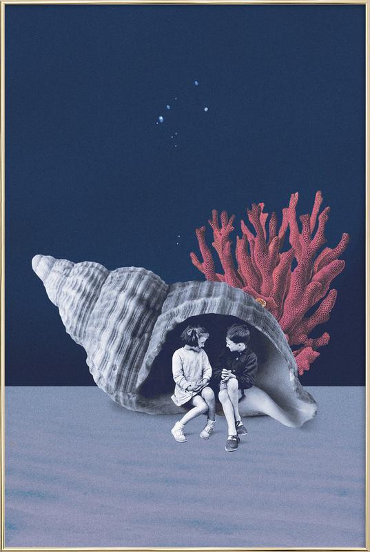 Can You Hear the Ocean? poster in aluminium lijst
