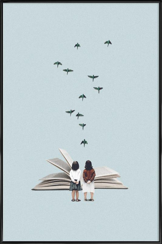 We Communicate Silently ingelijste poster