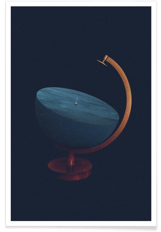 , Semi Round Earth -Poster