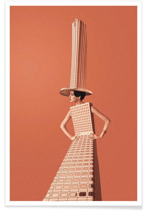 Architekturdetails, City Girl -Poster