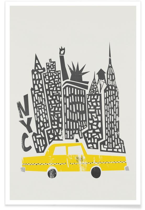 New York, New York Cityscape Poster