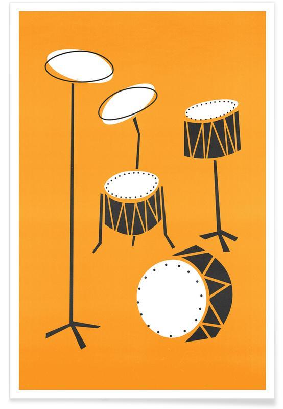 Retro, Drums poster