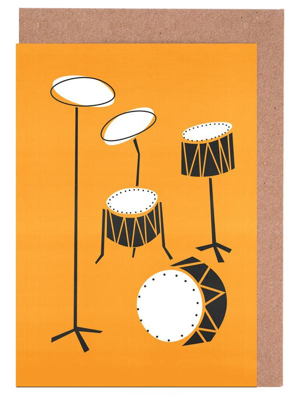 Drums Greeting Card Set