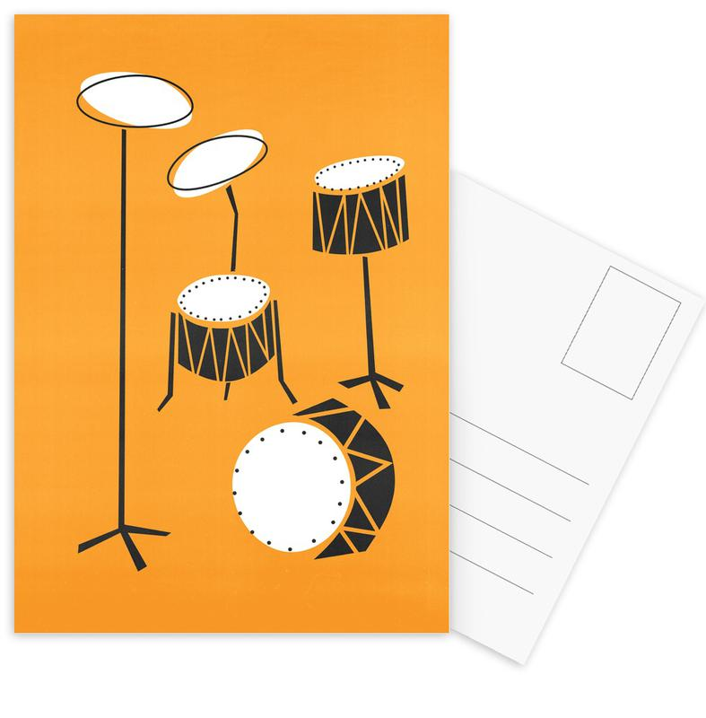 Drums -Postkartenset