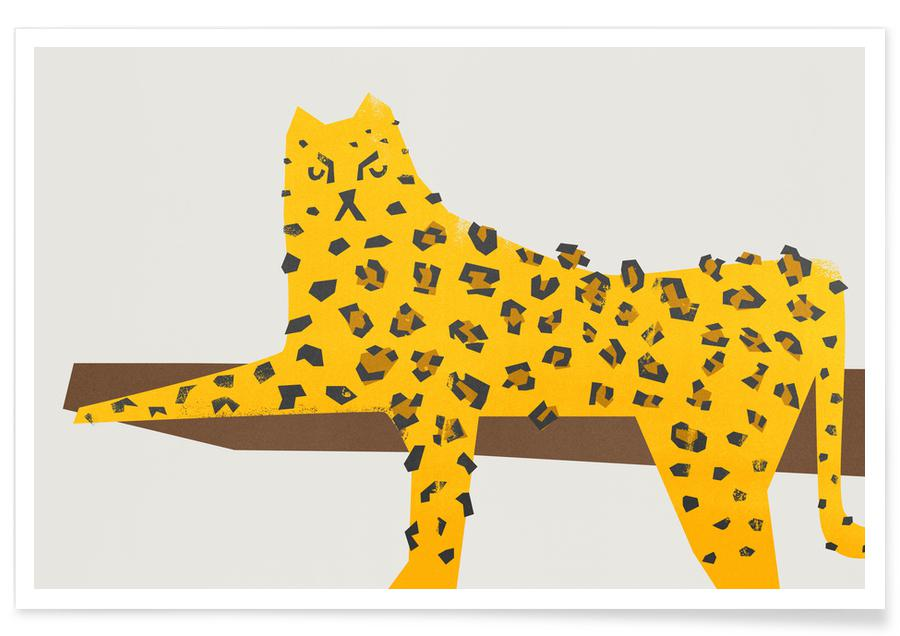 Leopard Lounging Poster