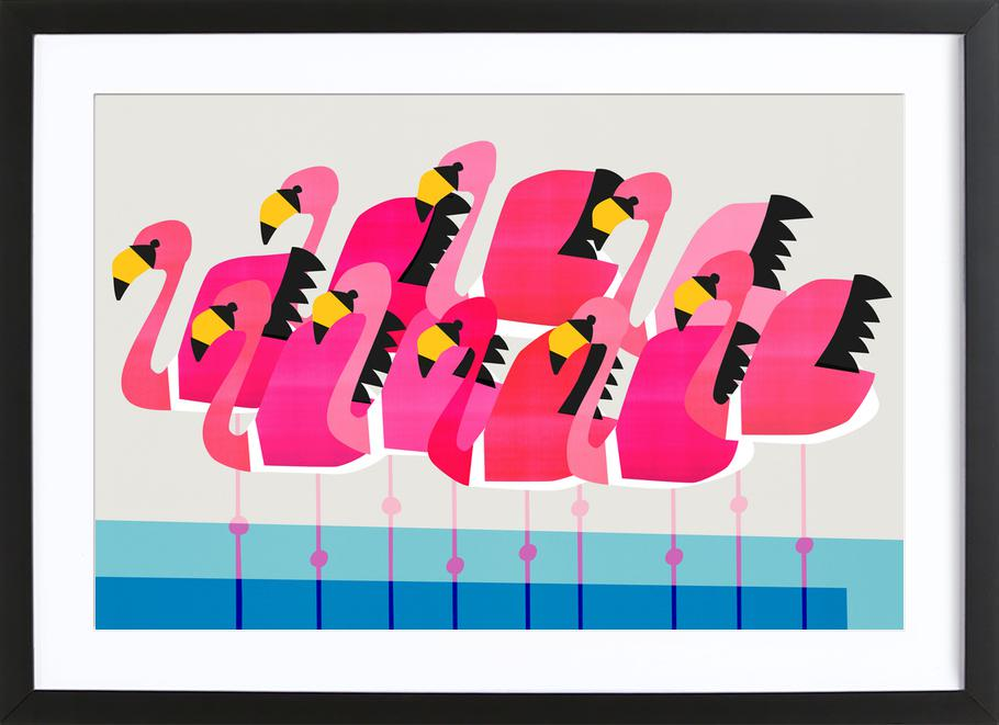 Flamboyance of Flamingos Framed Print