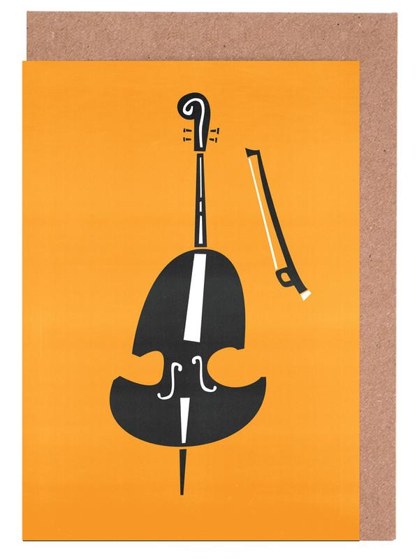Double Bass Greeting Card Set