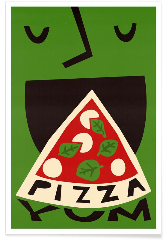 Pizza, Yum Pizza Poster