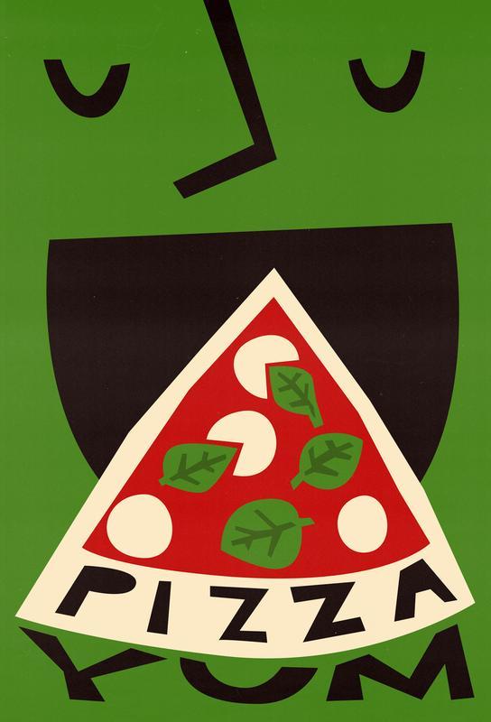 Yum Pizza Aluminium Print