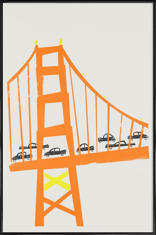Golden Gate -Bild mit Kunststoffrahmen