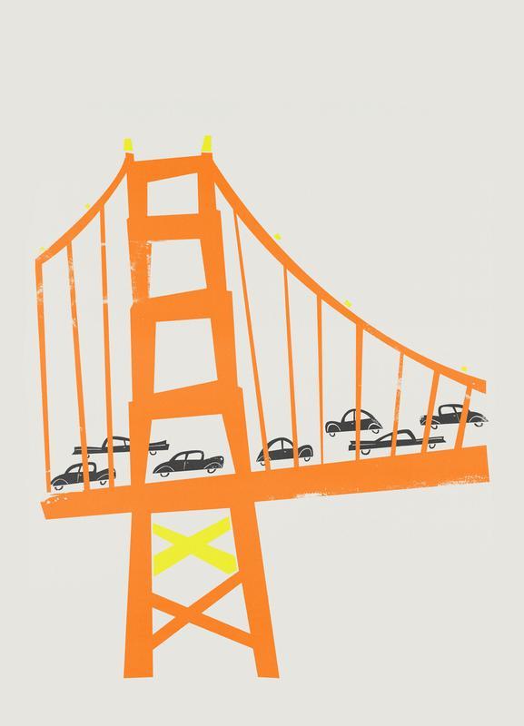 Golden Gate -Leinwandbild