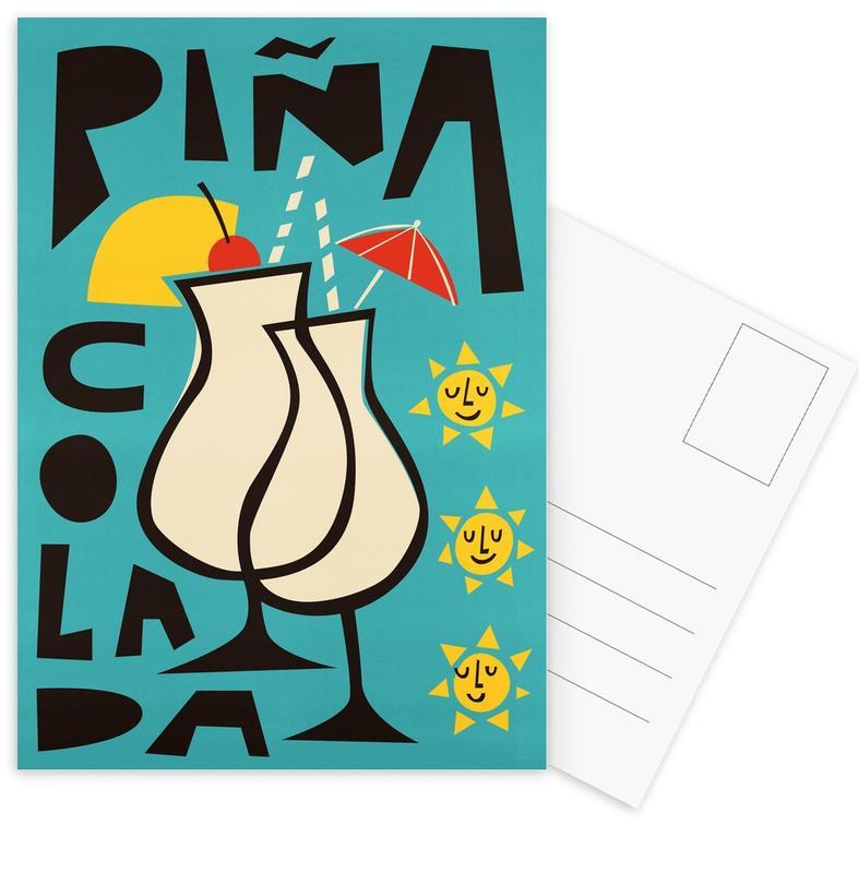 , Piña Colada Postcard Set