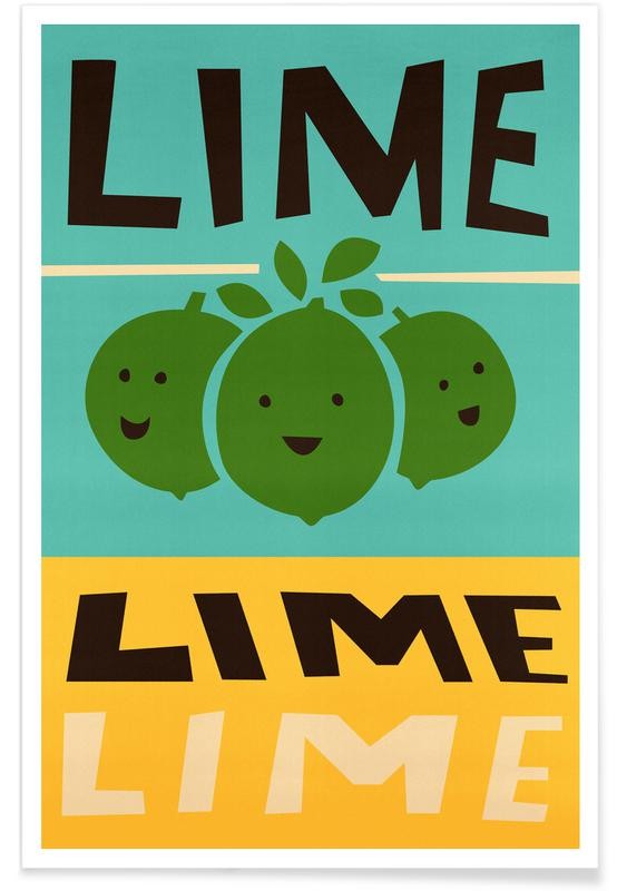 , Lime Poster