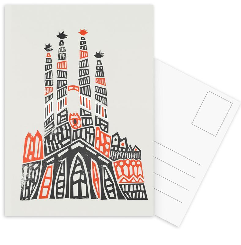 Sagrada Familia -Postkartenset