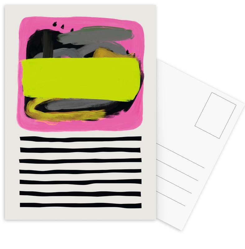 , Punk Stripe Postcard Set