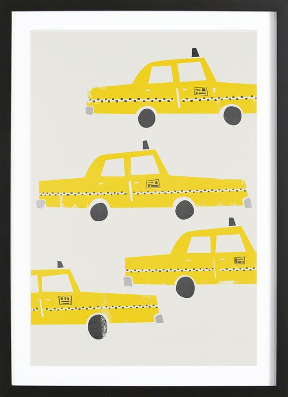 Taxi! ingelijste print