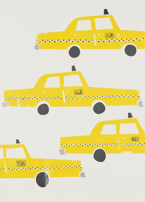 Taxi! canvas doek