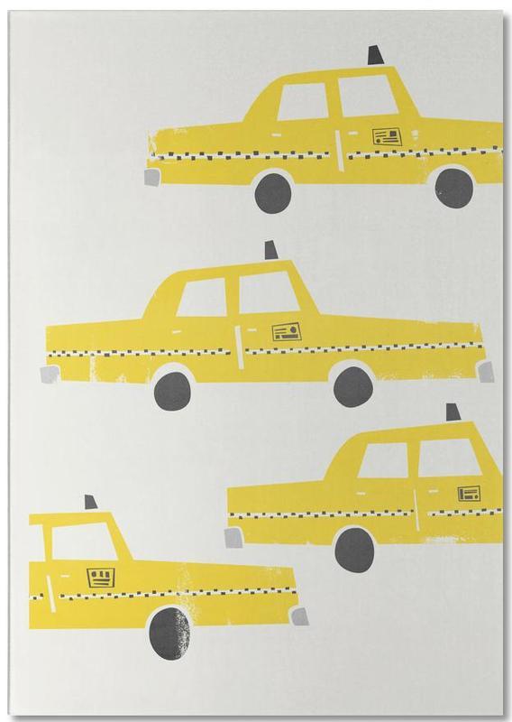 New York, Voitures, Rétro, Taxi! bloc-notes