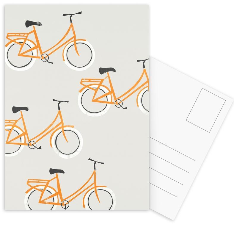 Bicycles, Retro, Omafiets Postcard Set