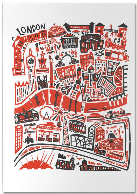 London, Busy London Map Notepad