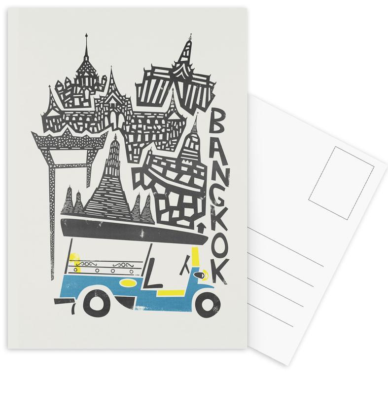 , Bangkok Cityscape Postcard Set