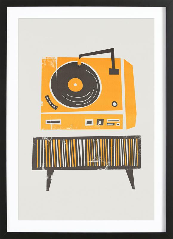 Vinyl Junkie Framed Print