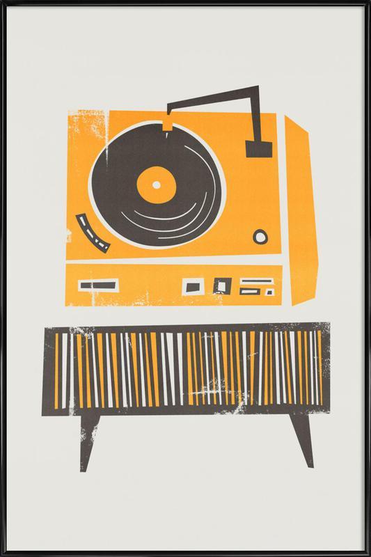 Vinyl Junkie Framed Poster