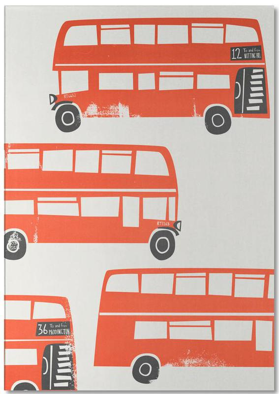 Londres, London Busses bloc-notes