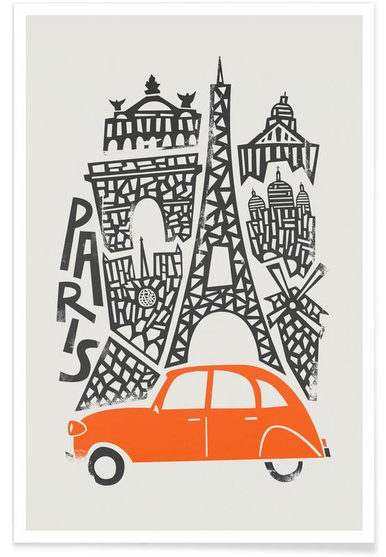 Paris, Paris Cityscape Poster