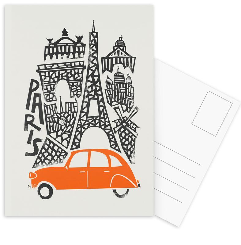 Paris, Paris Cityscape Postcard Set