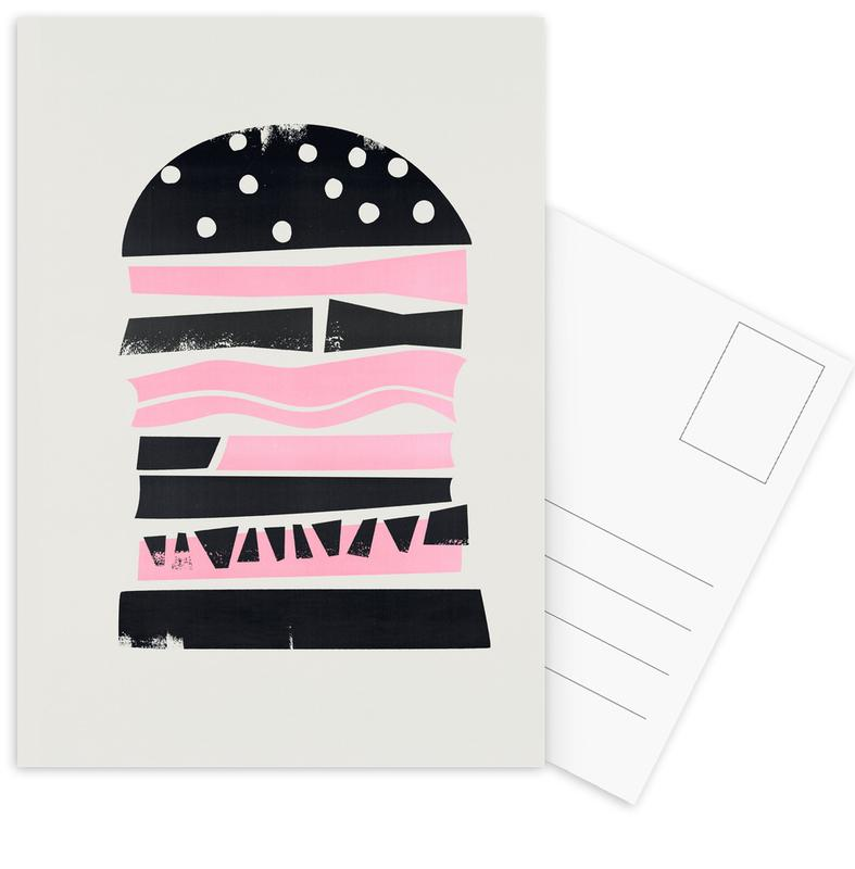 Retro, Burgers, Big Burger Postcard Set