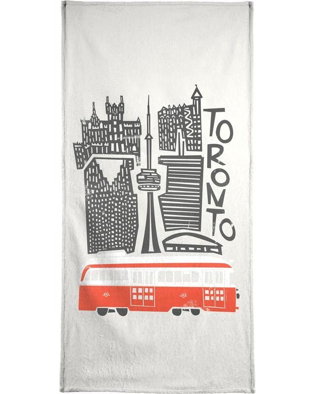 Rétro, Monuments et vues, Toronto Cityscape serviette de bain