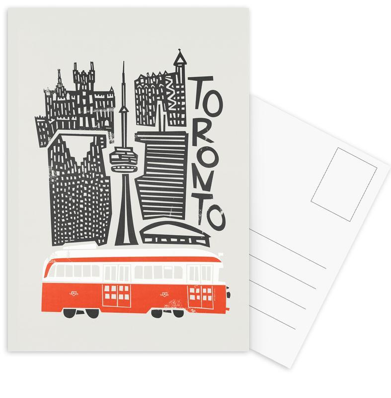 Retro, Sights & Landmarks, Toronto Cityscape Postcard Set