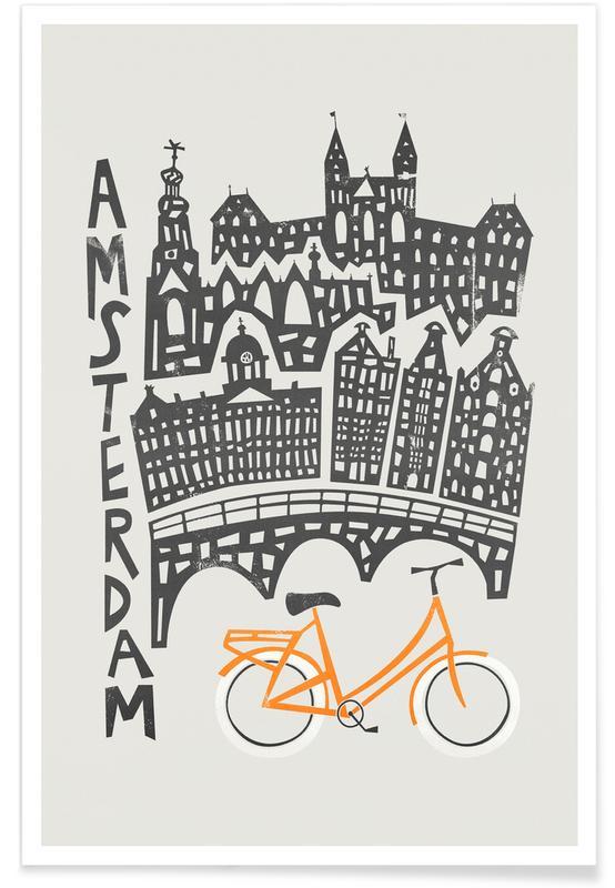 Amsterdam, Amsterdam Cityscape -Poster
