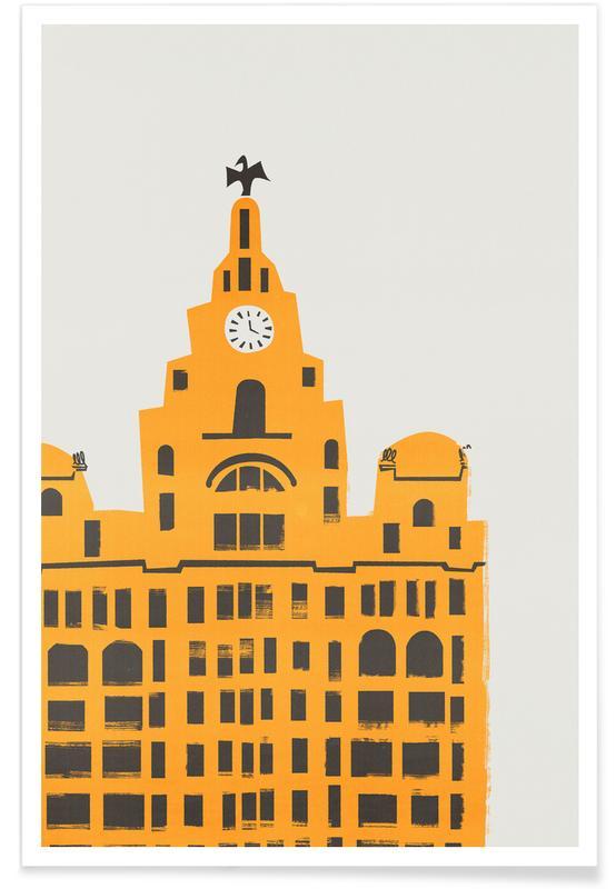 Retro, Sights & Landmarks, Liver Building Poster