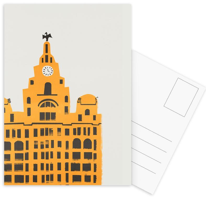 Retro, Sights & Landmarks, Liver Building Postcard Set