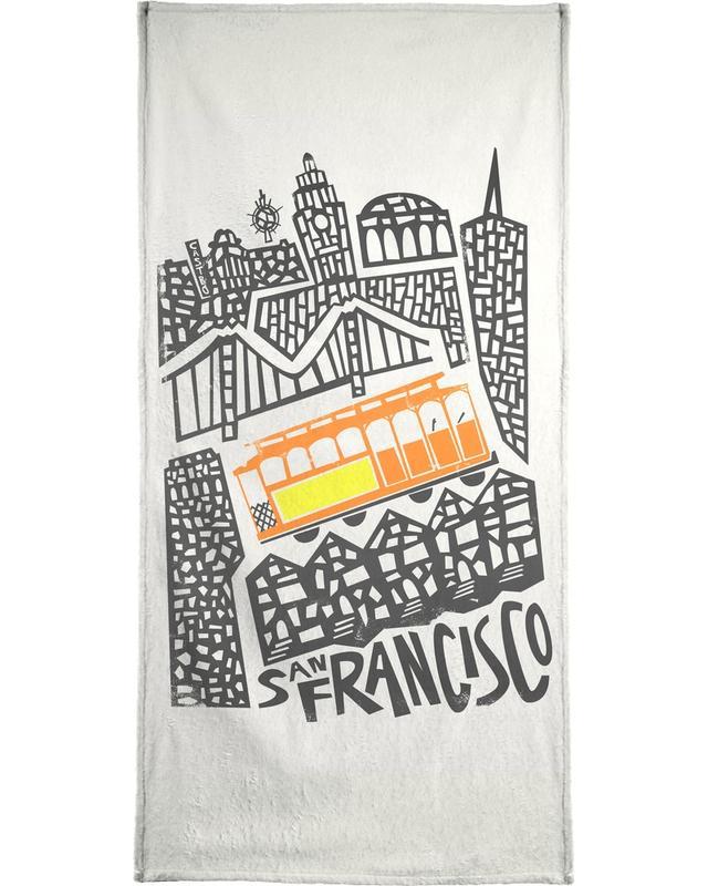 San Francisco Cityscape -Handtuch