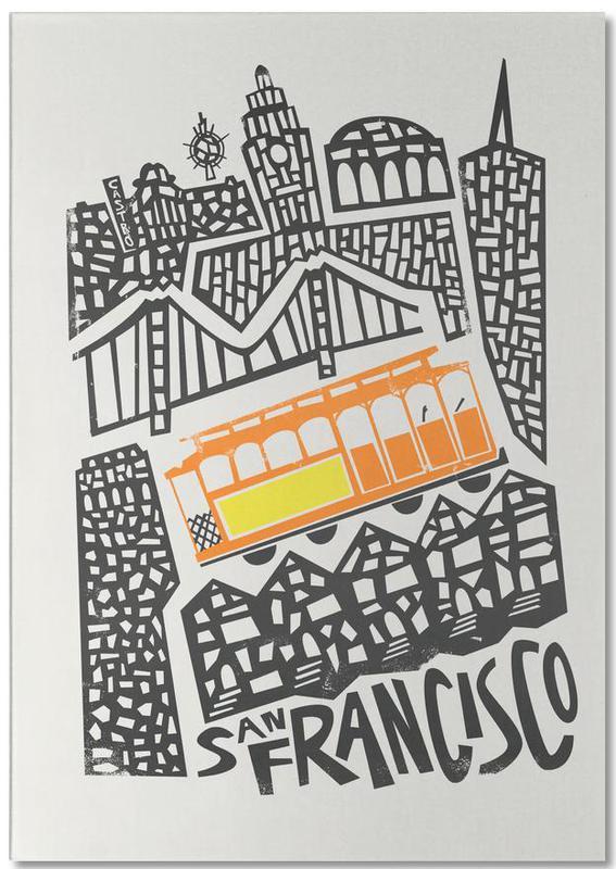 San Francisco Cityscape Notepad