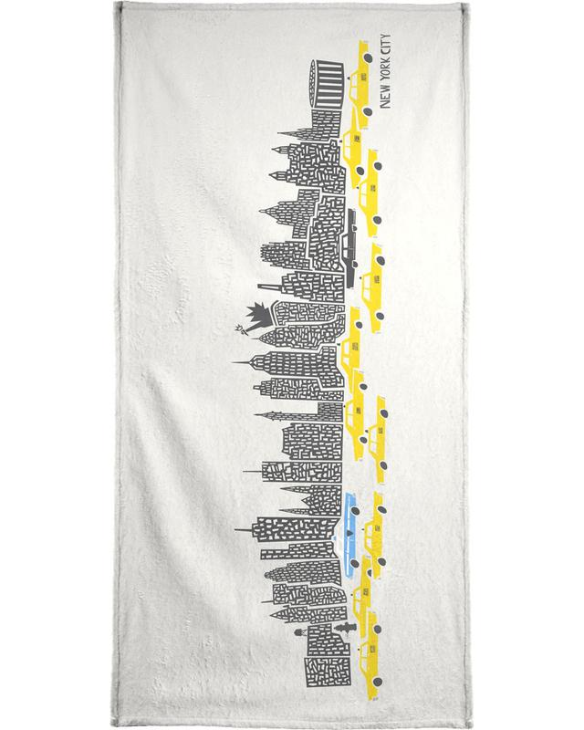 Panoramic New York Bath Towel