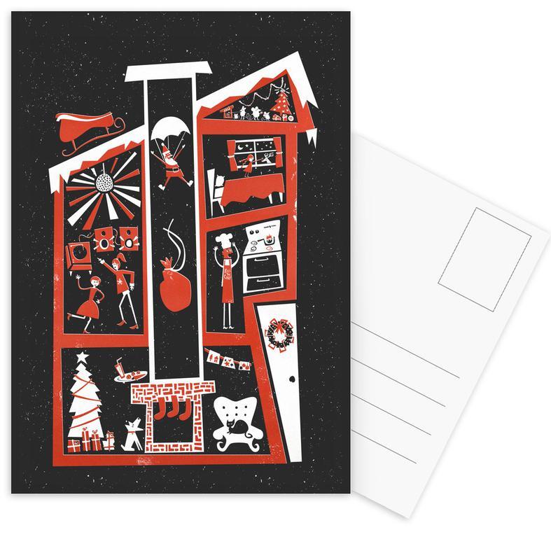 Christmas, London, Christmas Chaos Postcard Set