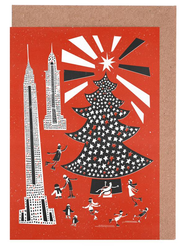 Christmas In New York Greeting Card Set
