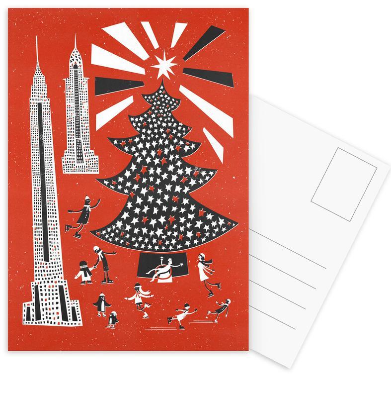 Christmas, New York, Christmas In New York Postcard Set