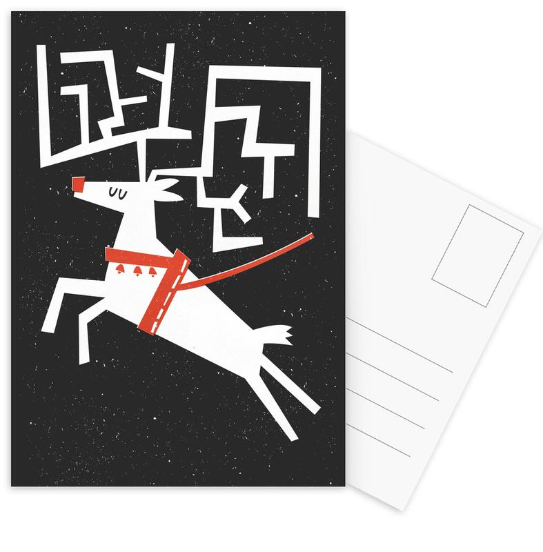 Christmas, Rudolph Postcard Set